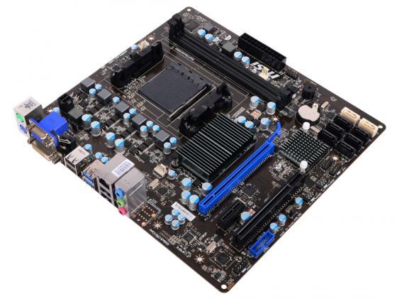 Материнская плата MSI 760GMA-P34 (FX) Socket AM3+ AMD 760G 2xDDR3 1xPCI-E 16x 1xPCI-E 1x 1xPCI 6xSATAII 2xSATAIII Raid D-Sub 7.1 Sound Glan mATX Retail