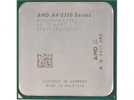 Процессор AMD A4 5300 AD5300OKA23HJ Socket FM2 OEM процессор amd a4 7300 oem socket fm2 ad7300oka23hl