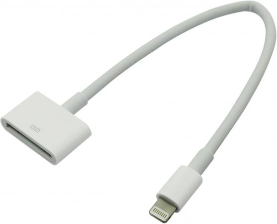 apple lightning на 30 pin 0 2м Переходник Lightning - 30 pin Apple белый MD824ZM/A