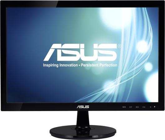 Монитор 19 ASUS VS197DE черный TFT-TN 1366x768 200 cd/m^2 5 ms VGA монитор asus 21 5 vs228de черный 90lmd8301t02201c