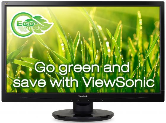 Монитор 23.6 ViewSonic VA2445-LED черный TFT-TN 1920x1080 250 cd/m^2 5 ms VGA DVI монитор 21 5 asus ve228tlb черный tft tn 1920x1080 250 cd m^2 5 ms dvi vga аудио usb