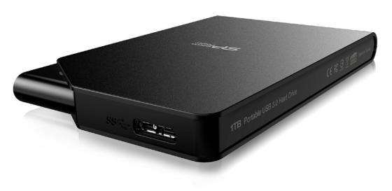 """Внешний жесткий диск 2.5"""" USB3.0 1 Tb Silicon Power Diamond S03 SP010TBPHDS03S3K черный от Just.ru"""