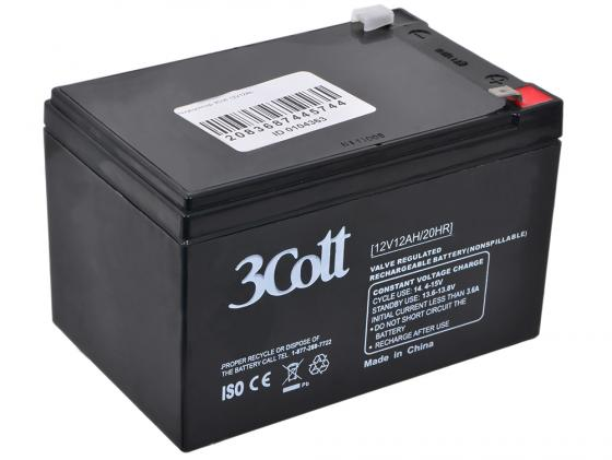 Батарея 3Cott 12V 12Ah RT12120/12V12AH/2OHR батарея 3cott 12v 4 5ah rt1245