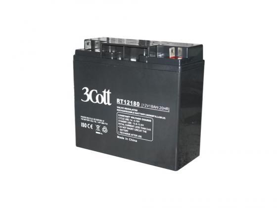 Батарея 3Cott 12V 18Ah/20HR аккумулятор для ибп 3cott 12v 18ah