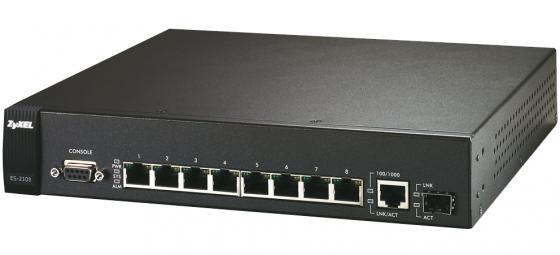 Коммутатор Zyxel ES-2108PWR управляемый 8 портов 10/100Mbps 1x 10/100/1000Mbps, PoE коммутатор zyxel gs1100 16 gs1100 16 eu0101f