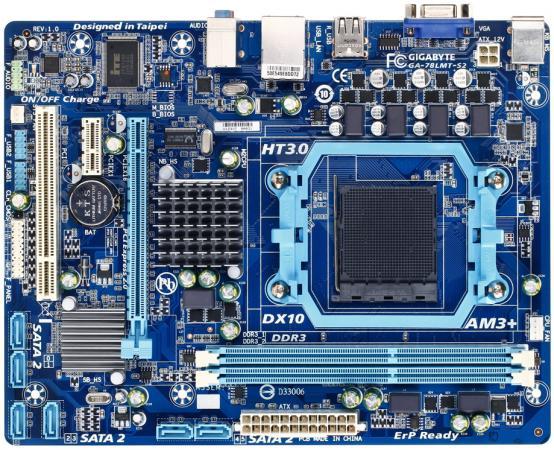 Материнская плата Gigabyte GA-78LMT-S2 Socket AM3+ AMD 760 2xDDR3 1xPCI-E 16x 1xPCI-E 1x 1xPCI 6xSATAII Raid Video 7.1 Sound Glan mATX Retail GA78LMTS2-00-B free shipping 100% original motherboard for gigabyte ga m61pme s2 ddr2 am2 m61pme s2 940 full integration desktop motherborad