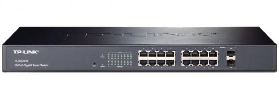 Коммутатор TP-LINK TL-SG2216 управляемый 14-ports 10/100/1000Mbps + 2Combo 1000BASE-T/SFP коммутатор tp link tl sf1005d 5 port 10 100m mini desktop switch 5 10 100m rj45 ports plastic case