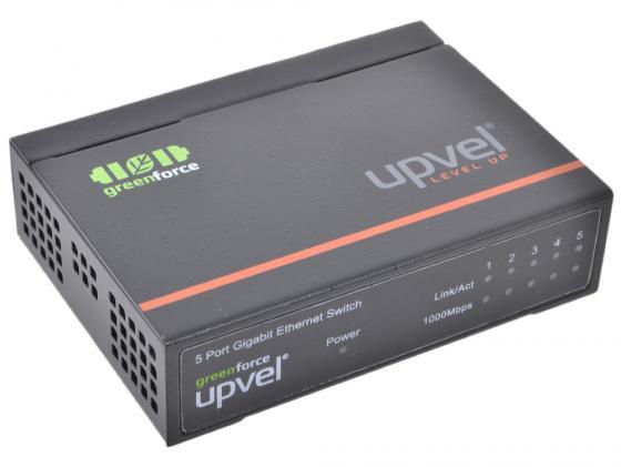 все цены на Коммутатор UPVEL US-5G неуправляемый 5 портов 10/100/1000Mbps онлайн