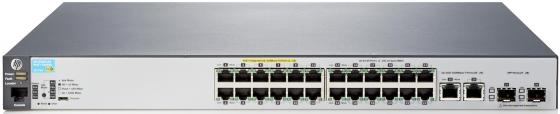Коммутатор HP 2530-24-PoE+ управляемый 24 порта 10/100Mbps 2xSFP PoE J9779A коммутатор hp 2530 8 poe управляемый 8 портов 10 100 1000mbps 2xsfp poe j9780a