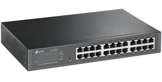 Коммутатор TP-LINK TL-SG1024DE 24-ports 10/100/1000Mbps коммутатор tp link tl sf1008d 8 port 10 100m mini desktop switch 8 10 100m rj45 ports plastic case