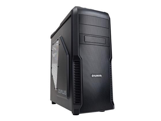 Корпус ATX Zalman Z3 Plus Без БП чёрный корпус atx zalman z3 plus midi tower без бп черный