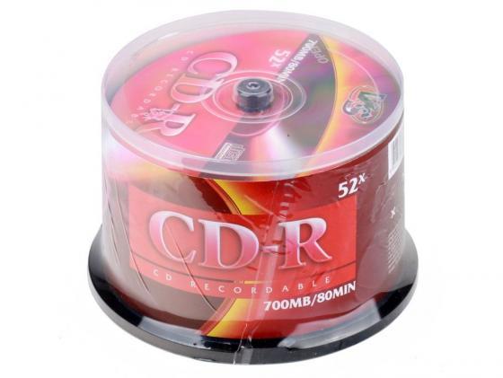 Диски CD-R VS 52x 700Mb CakeBox 50шт cd r диск mirex cd r 700mb 52х