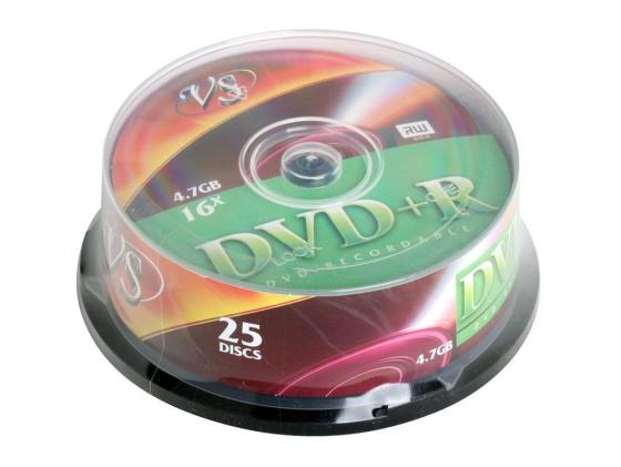 Диски DVD+R VS 16x 4.7Gb CakeBox 25шт 62054 диски cd dvd thunis dvd r dvd r 16x 25