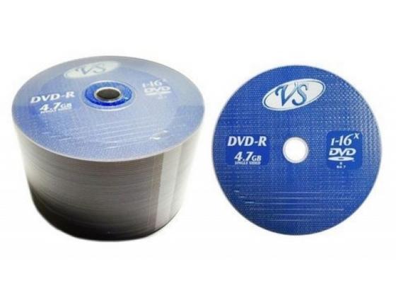 Диски DVD+R VS 16x 4.7Gb Bulk 50шт 62050 диски cd dvd sony dvd r 16x dvd dvd