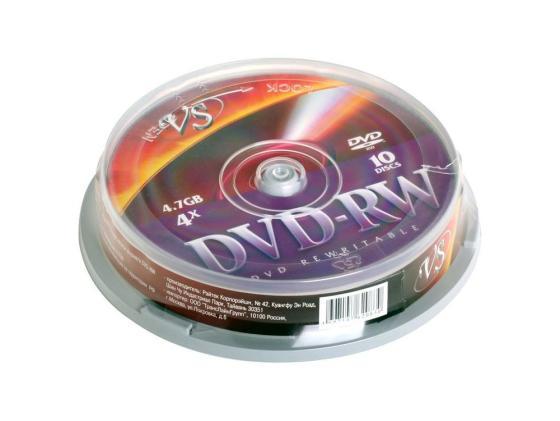 все цены на Диски DVD-RW VS 4x 4.7Gb CakeBox 10шт онлайн
