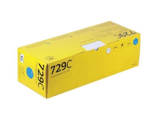 Картридж T2 TC-C729C для Canon i-SENSYS LBP7010C 7018C HP LaserJet Pro CP1025 1025nw Pro 100 MFP голубой картридж t2 c9732a для hp color laserjet 5500 5550 желтый 12000стр tc h9732r