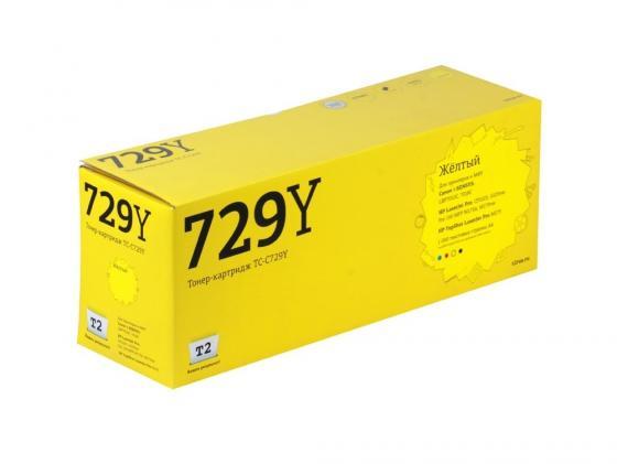 Картридж T2 TC-C729Y для Canon i-SENSYS LBP7010C 7018C HP LaserJet Pro CP1025 1025nw Pro 100 MFP желтый фотобарабан canon 029 для i sensys lbp7010c 7018c черный 7000стр