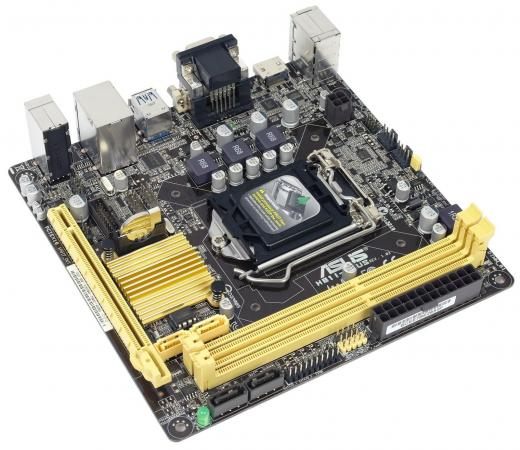 Материнская плата ASUS H81I-PLUS Socket 1150 H81 2xDDR3 1xPCI-E 16x 2xSATA II 2xSATAIII mini-ITX Retail материнская плата asrock h81m itx socket 1150 h81 2xddr3 1xpci e 16x 2xsataiii mini itx retail
