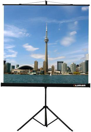 лучшая цена Экран на штативе Lumien Eco View 200х200 см матовый белый возм.настенного крепления LEV-100103