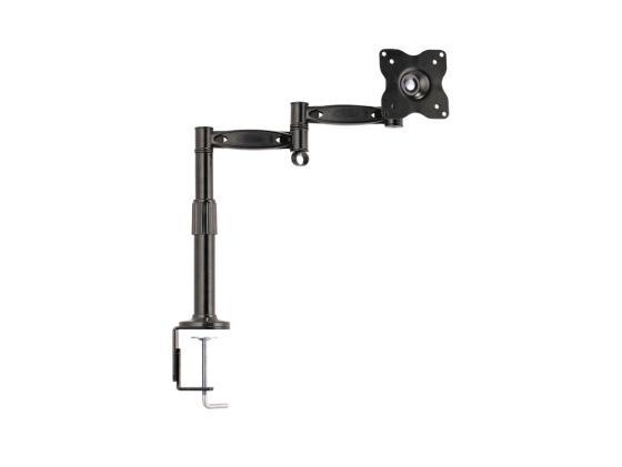 Настольное наклонно-поворотное крепление Kromax OFFICE-2 для LCD монитора 15-32 4 степени свободы 3D вращение VESA 75/100 max 10кг серый kromax office 3 10 26 до 2x12кг vesa до 100x100 серый для двух мониторов