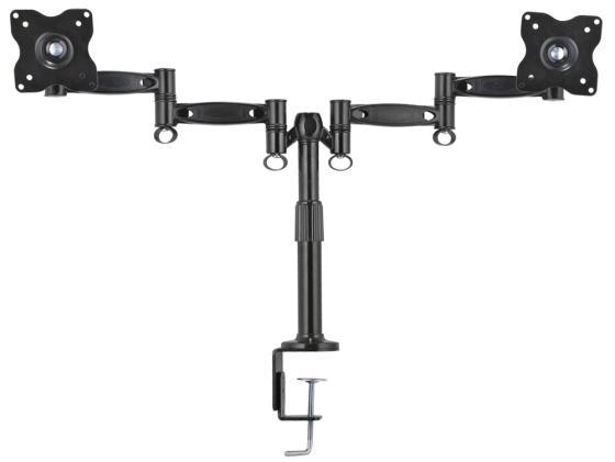 Настольное наклонно-поворотное крепление Kromax OFFICE-3 для 2-х LCD мониторов 15-32 8 степеней свободы 3D вращение VESA 75/100 max 2*12кг серый kromax office 3 10 26 до 2x12кг vesa до 100x100 серый для двух мониторов