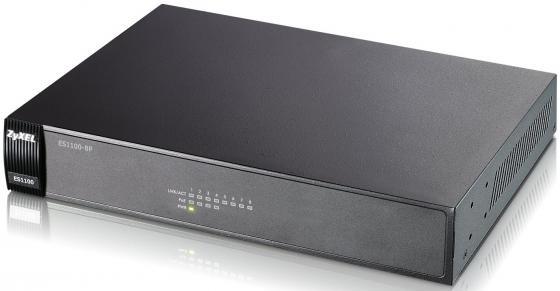 Коммутатор Zyxel ES1100-8P 8-ports 10/100Mbps коммутатор zyxel gs1900 8 eu0101f