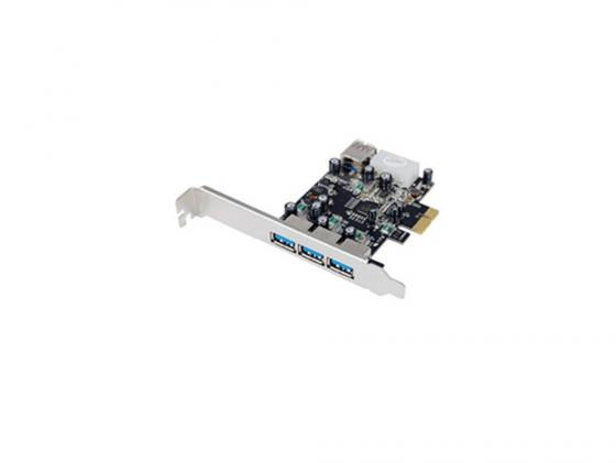 Контроллер PCI-E ST-Lab U750 3 ext + 1 int USB 3.0 Retail контроллер atcom pci usb at7803