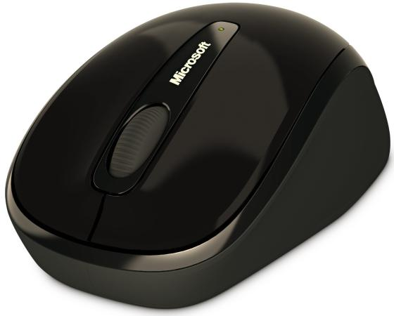 Мышь беспроводная Microsoft Wireless Mobile 3500 чёрный USB GMF-00292 microsoft wireless mobile mouse 3500 серый usb