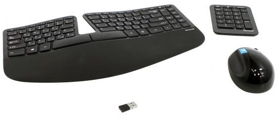 Комплект Microsoft Sculpt Ergonomic USB черный L5V-00017 цена и фото