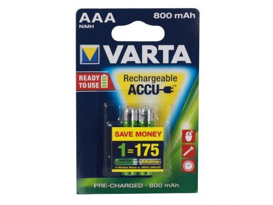 Аккумулятор 800 mAh Varta Ready 2 Use AAA 2 шт цена в Москве и Питере