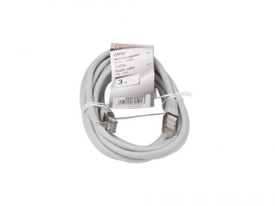 Патч-корд 5E категории Hama H-30592 STP 3м сетевой кабель hama patch cord cat 5e stp rj45 3m h 30592