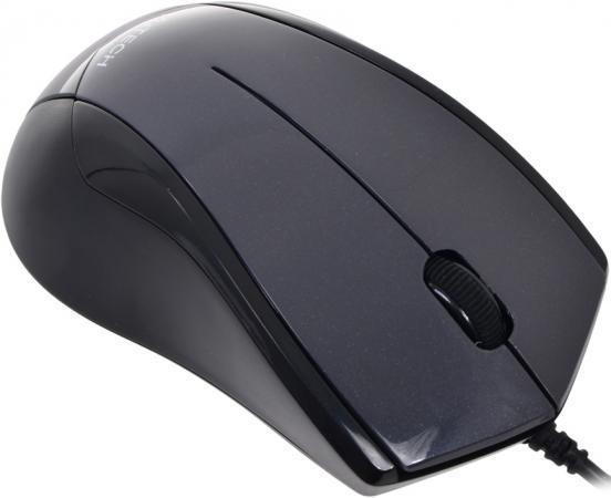 лучшая цена Мышь проводная A4TECH N-400-1 чёрный серый USB