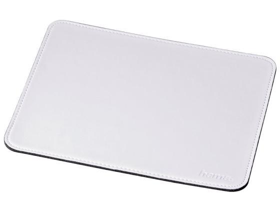 Коврик для мыши Hama H-53231 искуственная кожа белый конверты hama для cd dvd бумажные с прозрачным окошком белый 25шт h 51060