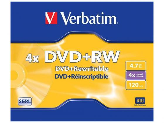 Диски DVD+RW Verbatim 4x 4.7Gb SlimCase 3шт 43636\\297 диски dvd rw 4 7gb 4x verbatim