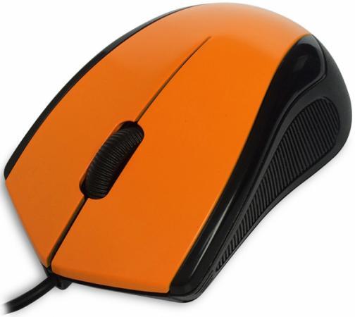 Мышь проводная CBR CM-100 оранжевый USB мышь проводная cbr cm 301 оранжевый чёрный usb