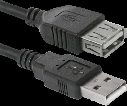 Фото - Кабель удлинительный USB 2.0 AM-AF 1.8м Defender USB02-06 PolyBag кабель удлинительный usb 2 0 am af 0 75м buro usb2 0 am af 0 75m