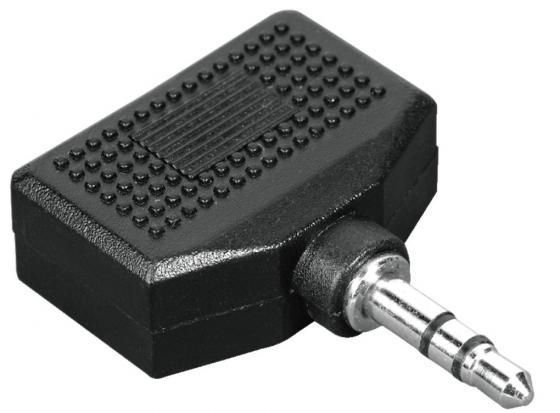 Переходник Hama 3.5 Jack (M) - 2x3.5 Jack (F) стерео черный H-43353 боди для девочки мамуляндия ассорти цвет светло розовый 18 907 размер 62
