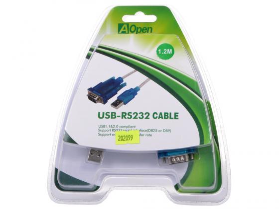 все цены на Кабель-адаптер USB 2.0 AM-COM 9pin Aopen добавляет в систему новый COM порт USB-RS232 Cable 1.2м в интернете
