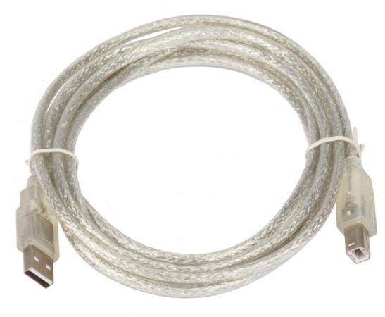 Кабель USB 2.0 AM-BM 3.0м Telecom VUS6900 прозрачная изоляция кабель usb 2 0 am bm 3м telecom page 8
