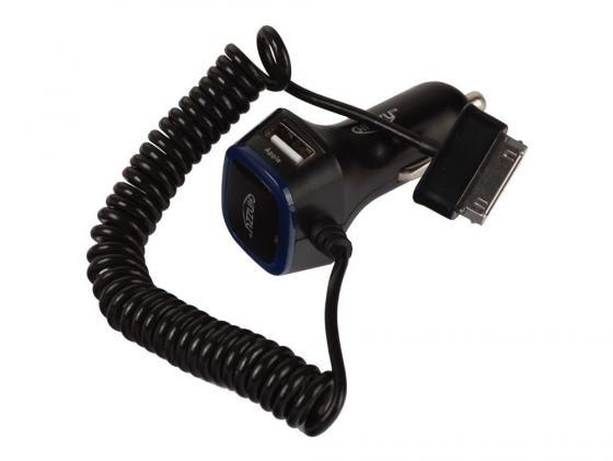 все цены на Автомобильное зарядное устройство Ginzzu GA-4315UB 5В/3.0A 2USB + кабель 30pin для Galaxy Tab 1.5м онлайн
