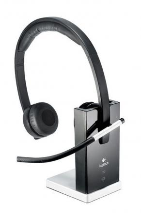 Гарнитура Logitech Wireless Headset H820e DUAL 981-000517 беспроводная гарнитура logitech wireless headset h820e mono 981 000512