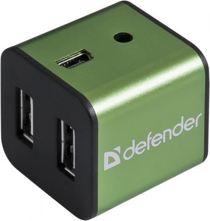 Концентратор USB DEFENDER QUADRO IRON 4 порта металлический корпус 83506/83501 defender quadro power