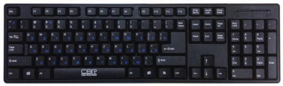 Клавиатура проводная CBR KB 106 PS/2 черный наушники cbr human friends essence черный