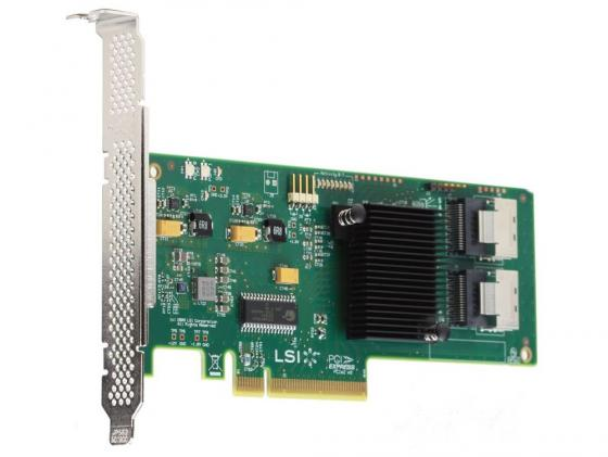 Контроллер SAS/SATA LSI SAS9211-8I PCI-E 2.0 x8 LP SGL контроллер lsi sas 9271 8i sgl lsi00330