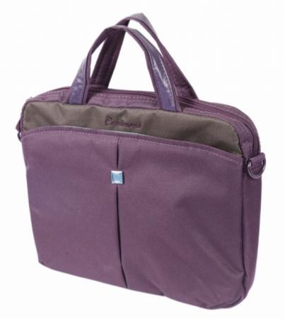 """где купить  Сумка для ноутбука 10"""" Continent CC-010 Deep Purple нейлон фиолетовый  дешево"""