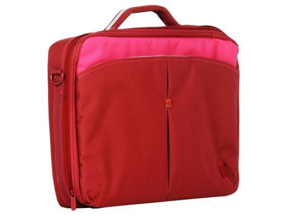 "Сумка для ноутбука 15.6"" Continent CC-02 Cranberry красный нейлон цена и фото"