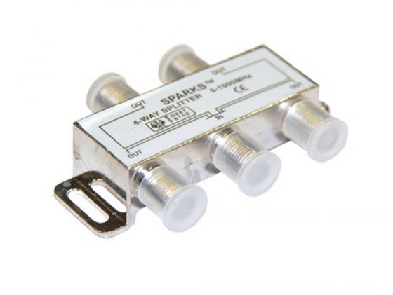 Антенный сплиттер Belsis SPARKS на 4 направления под F разъем 5-1000мгц серия Sparks SN1076/BL1076 усилитель антенный rtm la 602g