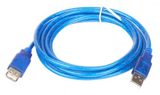 Фото - Кабель удлинительный USB 2.0 AM-AF 1.8м Telecom прозрачная голубая изоляция VU6956 кабель удлинительный usb 2 0 am af 1 8м sven sv 004569
