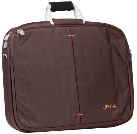 """где купить Сумка для ноутбука 15.6"""" Jet.A LB15-28 полиэстер коричневый по лучшей цене"""