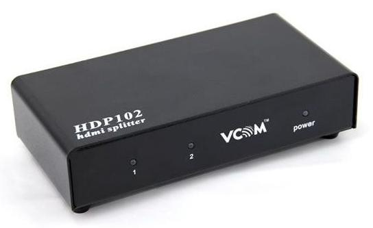 Сплиттер HDMI Spliitter VCOM VDS8040/D 2port 3D Full-HD каскадируемый HDP102 сплиттер vcom vte7703 adsl ag ka63 annex a